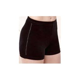 Hot Pant Material: Samt uni, mit Strass